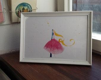 Love framed illustration