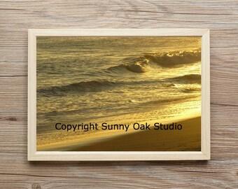 Photograph of an ocean sunset at Rio Del Mar State Park, Aptos California photo, water photo, sunset photo, ocean photo, beach photo