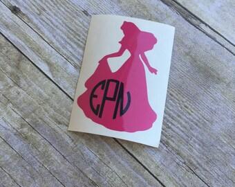 Disney Princess Circle Monogram Decal