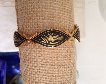 Vintage damascene bracelet, toledo jewelry, spanish jewelry, vintage damascene, bracelets damascene,  damascene bracelet, spanish bracelet
