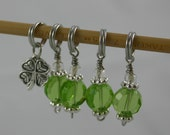 Luck 'O The Irish Clover Stitch Markers - Set of 5