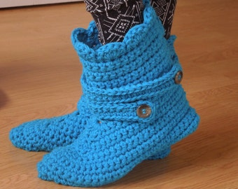 Crochet PATTERN - Slipper Boots For The Family, Quick And Easy Project - Instant Download
