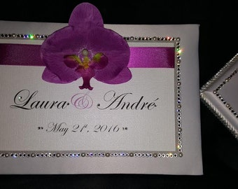 Custom Made Wedding Guest Book and Pen Pad