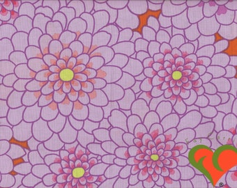 Kaffe Fassett Line Dance Lavender Fabric GP116 Fat Quarter or more. Out of Print (OOP).