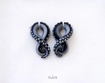 Tentacle Gauges silver black