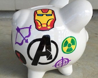Personalized Avengers Piggy Bank