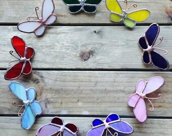 Glass Butterfly Brooch