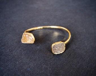 Double Stone Druzy Bracelet