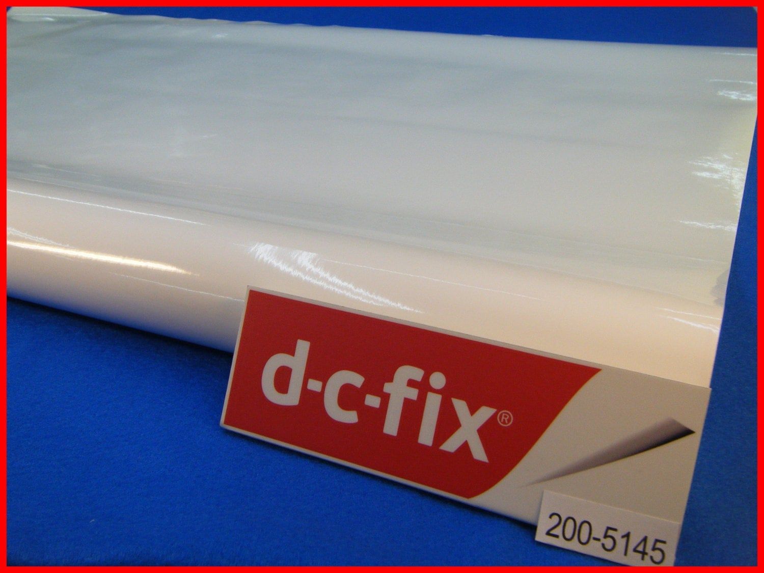 Contact Paper DC FIX White Gloss Plain Design Sticky Back