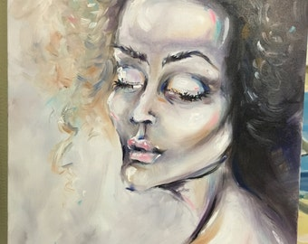 Woman. Oil painting. Canvas 60x70 cm
