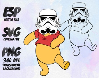 Pluto trooper  Star wars Clipart , SVG Cutting , ESP Vectors files , T shirt , iron on , sticker ,Personal Use