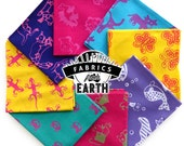 Animal Fun Batik 8 Fat Quarter Bundle - Quilting Fabric