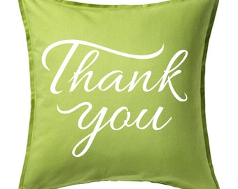 Thank you pillow cover, Custom Canvas pillow cover, Thank you Pillow cover, Decor pillow cover