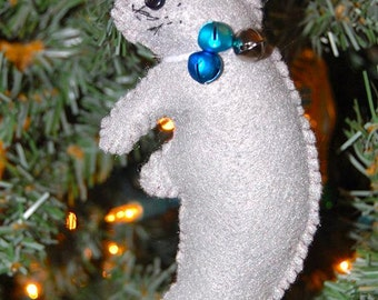 Felt Manatee Ornament