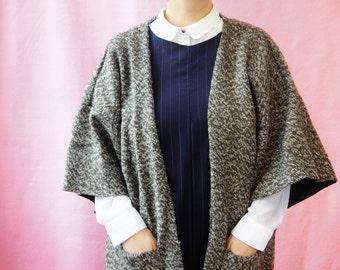 Kimono Unisex Wool Jacket Cocoon Coat Handmade