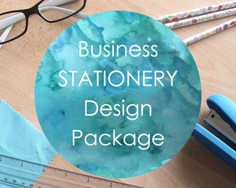 Business Stationery Package - business cards, letterheads and compliment slips. Custom print design, made to order. Bespoke stationery.