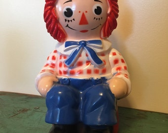 Raggedy Andy Coin Bank the Bobbs Merrill Co. Inc. My Toy Co. 1972