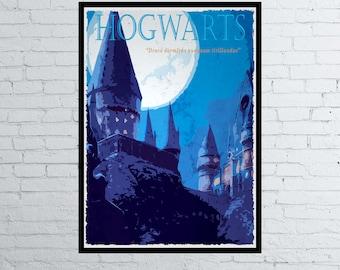 Harry Potter Movie / Poster / Print / Hogwarts Poster