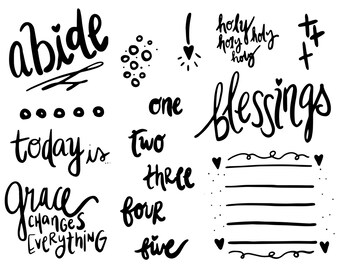 """4x5 """"Blessings"""" Stamp Set"""
