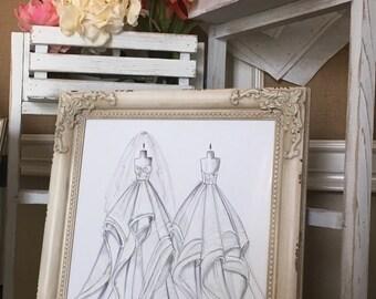 Custom Bridal Gown Ilustration