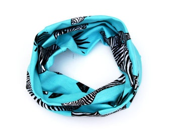 Zebra Messing Organic Cotton Infinity Scarf / Snood