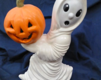 Ghost With Jack O Lantern