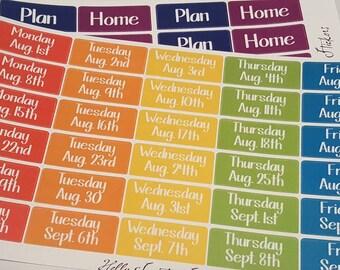 Vertical Teacher Planner Lesson Week Days