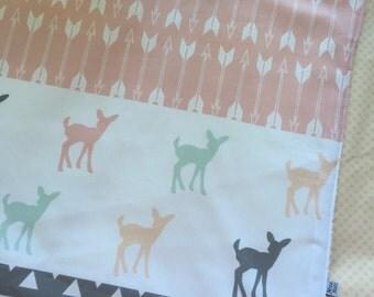 Modern Cot Quilt/Blanket - Woodland Girl