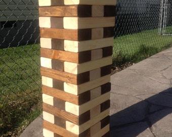 Giant Wood Block Game, Jumbo Tumbling Blocks, indoor or outdoor stacking game, Wedding Game