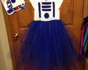 Crochet R2D2 Inspired Tutu Dress Costume