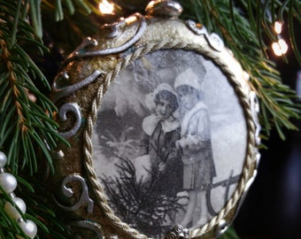 SOLD!!! Vintage/Shabby Chic/ Christmas Ornament / Decoration / Bauble/ Handmade