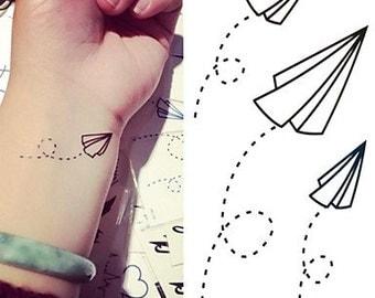 Paper planes - tijdelijke tattoo / temporary tattoo