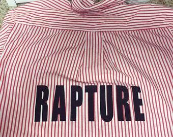 rapture button down / screenprinted