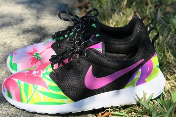 aeef356883f6 cheap Painted Custom Light Pink Floral Nike Roshe by LeedasWorld on Etsy