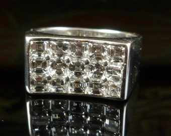 2.25ct Asscher Cut Diamond 18ct & Platinum Ring