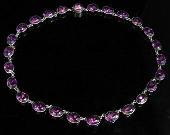 Antique Georgian Paste Necklace – Lovely Deep Purple - 1780