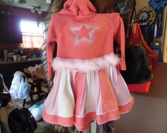 pink childrens cotton upcycled coat..,this coat is SOLD