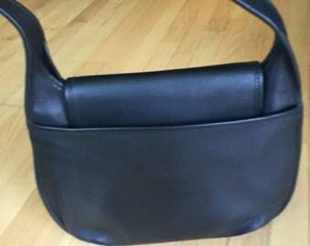 Coach Black Large Ergo Hobo Shoulder Bag with Crescent Flap