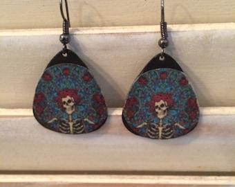 Gratful Dead vinyl earrings