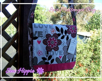 Think Pink LOVE Messenger Crossbody Bag Girls