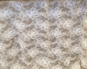 White Rose Lace Blouson Baby Bed Skirt by Dance With Joy® Baby Bedding