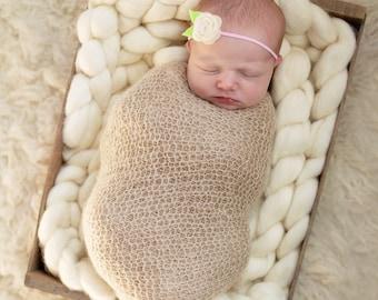 Felt Flower headnand, felt Baby Headband, elastic band, baby girl