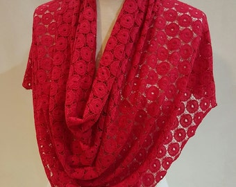 The ScarfNshawl, lace scarves, lace shawls, unique scarves, spring shawls, infinity scarves