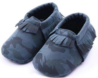 Baby First Walkers Soft Shoes - Camouflage Range