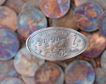 Believe in Santa Copper Pressed Penny