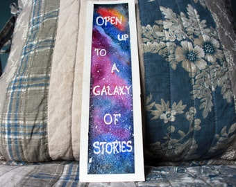 "Hand painted ""open your heart..."" bookmark"