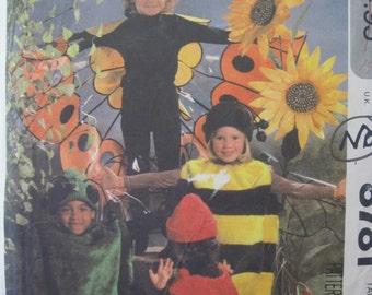 Pattern MC CALLS 8781 costumes halloween graneur child: Bee, ladybug, butterfly etc.  VINTAGE