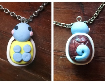 Polymer Clay Squirtle Pokeman Necklace