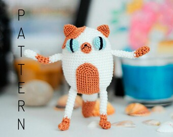 Crochet amigurumi Cake the cat doll pattern chart Adventure Time Fionna the human