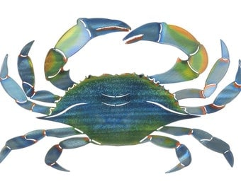 Next Innovations Crab Refraxions 3D Wall Art, Eastern Blue